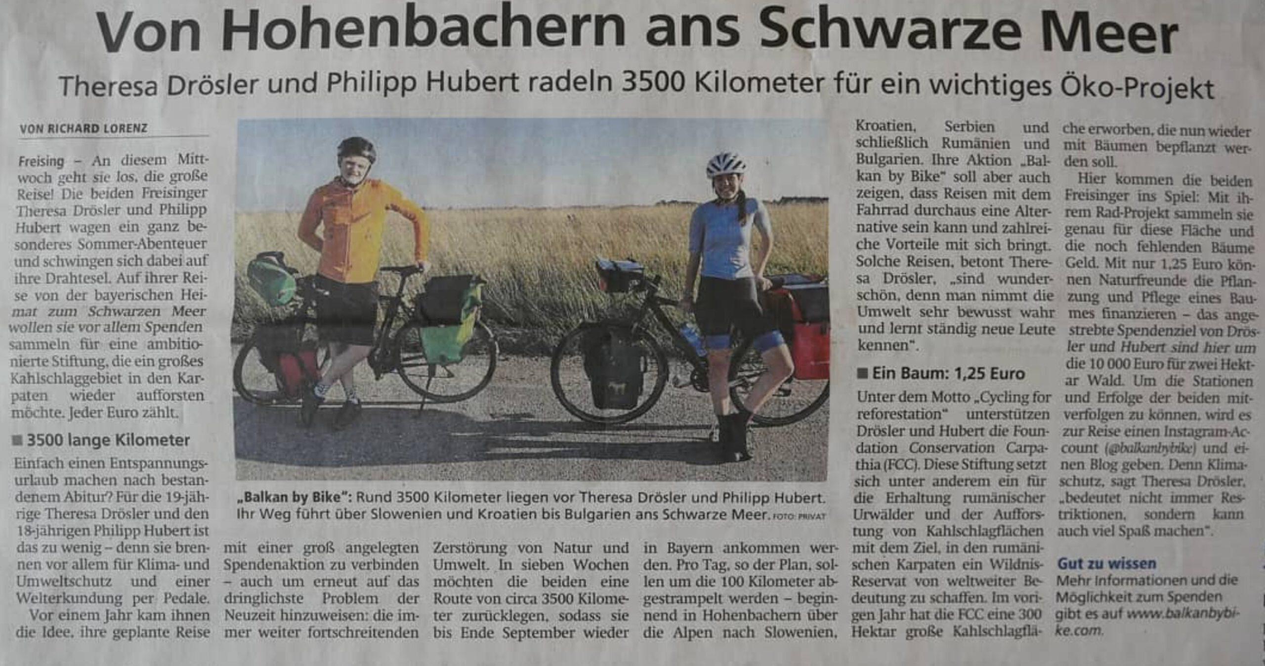 You are currently viewing Der erste Zeitungsartikel